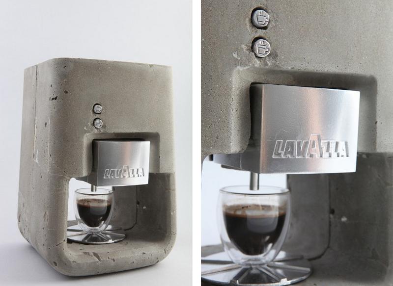 lavazza concrete coffee machine Kalopsia